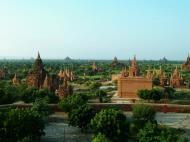 Asisbiz Pagan Dhamma ya zi ka Pagoda panoramic views Nov 2004 06