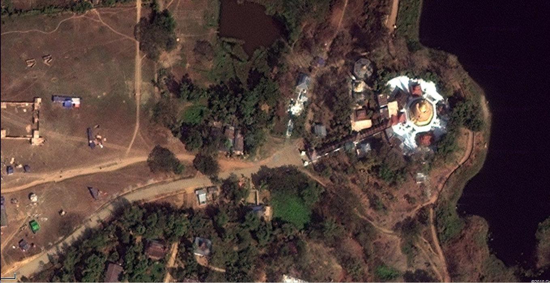 1 Hlwaga Lake Pagoda Mingaladon Yangon Myanmar satellite photo 05