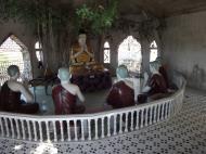 Asisbiz Hlwaga Lake Pagoda Buddha statues Mingaladon Yangon Myanmar Jan 2010 01