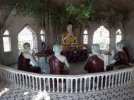 Asisbiz Hlwaga Lake Pagoda Buddha statues Mingaladon Yangon Myanmar Jan 2010 02