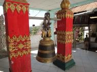Asisbiz Hlwaga Lake Pagoda bronze bells Mingaladon Yangon Myanmar Jan 2010 01