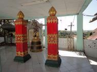 Asisbiz Hlwaga Lake Pagoda bronze bells Mingaladon Yangon Myanmar Jan 2010 02