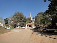 Asisbiz Hlwaga Lake Pagoda main entrance Mingaladon Yangon Myanmar Jan 2010 01