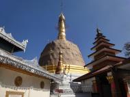 Asisbiz Hlwaga Lake Pagoda main stupa Mingaladon Yangon Myanmar Jan 2010 02