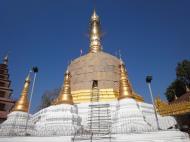 Asisbiz Hlwaga Lake Pagoda main stupa Mingaladon Yangon Myanmar Jan 2010 05
