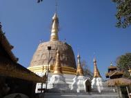 Asisbiz Hlwaga Lake Pagoda main stupa Mingaladon Yangon Myanmar Jan 2010 06