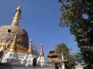 Asisbiz Hlwaga Lake Pagoda main stupa Mingaladon Yangon Myanmar Jan 2010 07