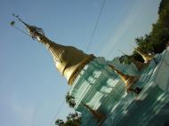 Asisbiz Hmawbi monastery grounds pagodas Dec 2000 02