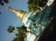 Asisbiz Hmawbi monastery grounds pagodas Dec 2000 03