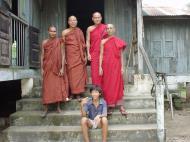 Asisbiz Hmawbi monastery main monks Jul 2001 13