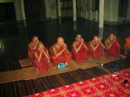 Asisbiz Hmawbi monastery monks evening prayers 03