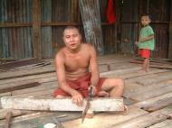 Asisbiz Hmawbi monastery monks helping with construction Jul 2001 01
