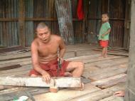 Asisbiz Hmawbi monastery monks helping with construction Jul 2001 02