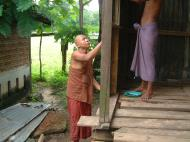 Asisbiz Hmawbi monastery monks helping with construction Jul 2001 04