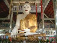 Asisbiz Yangon Hmawbi area sitting Buddha Jul 2001 01