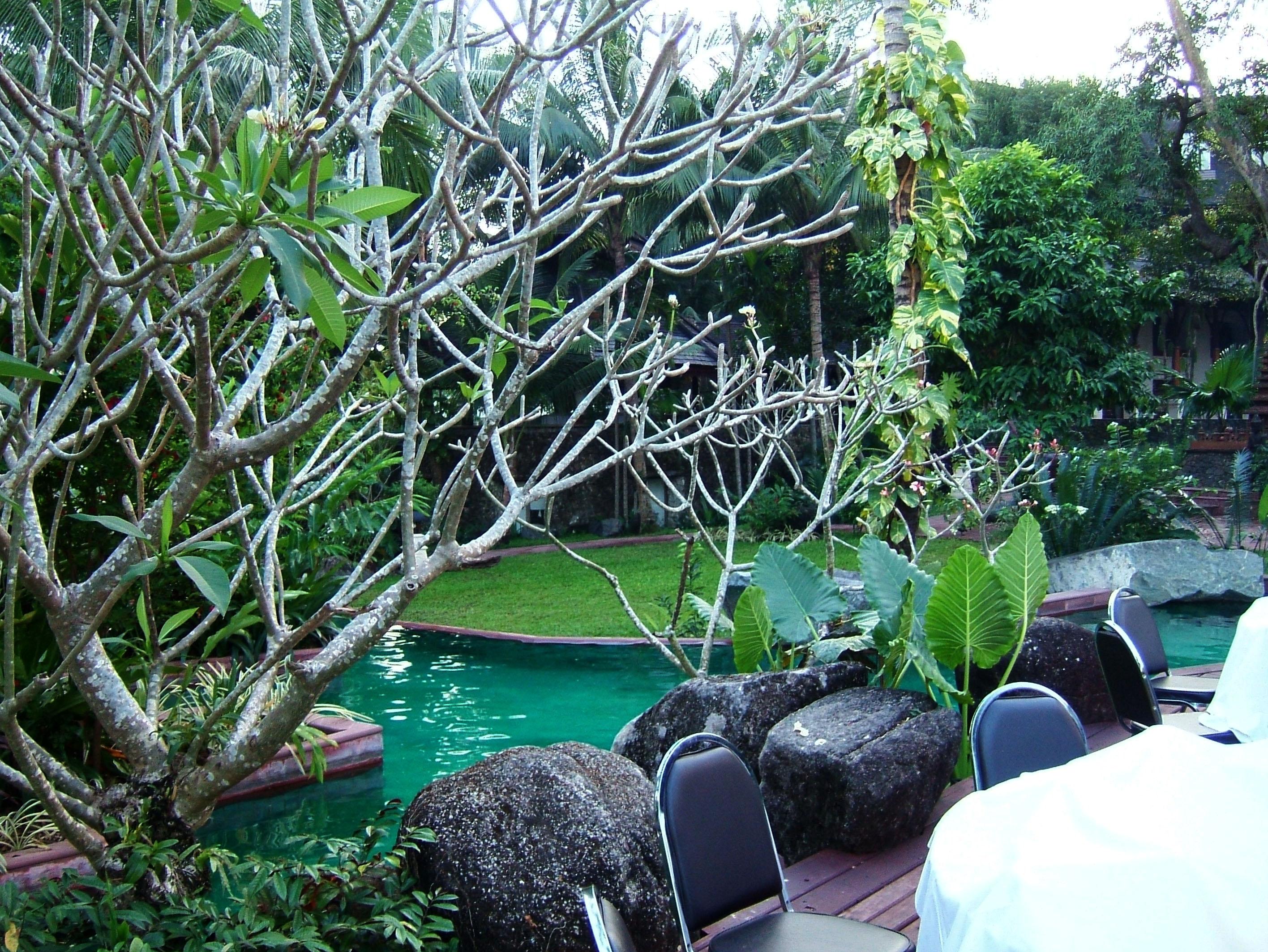 Yangon Kandawgyi Palace Hotel swimming pool  Nov 2004 02
