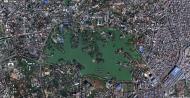 Asisbiz 1 Satelitte map Yangon Kandawgyi Palace Hotel and royal barge Myanmar 02