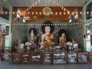 Asisbiz Kyaik Ka Log pagoda Pyay road main alters Mingaladon area Yangon Jan 2010 01