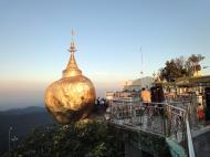 Asisbiz Mon State Kyaiktiyo Pagoda Golden Rock morning views 2009 09