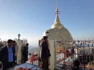 Asisbiz Mon State Kyaiktiyo Pagoda Golden Rock morning views 2009 23