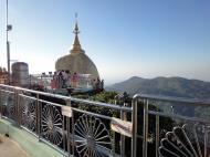 Asisbiz Mon State Kyaiktiyo Pagoda Golden Rock morning views 2009 25