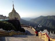 Asisbiz Mon State Kyaiktiyo Pagoda Golden Rock morning views 2009 28