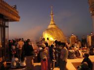 Asisbiz Myanmar Mon State Kyaiktiyo Pagoda Golden Rock dawn 2009 01