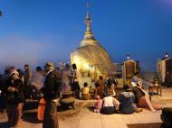 Asisbiz Myanmar Mon State Kyaiktiyo Pagoda Golden Rock dawn 2009 05