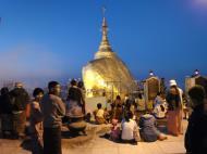 Asisbiz Myanmar Mon State Kyaiktiyo Pagoda Golden Rock dawn 2009 07