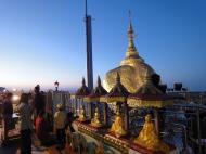 Asisbiz Myanmar Mon State Kyaiktiyo Pagoda Golden Rock dawn 2009 08