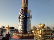 Asisbiz Myanmar Mon State Kyaiktiyo pagoda court yard guardians Dec 2009 07