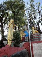 Asisbiz Myanmar Mon State Kyaiktiyo pagoda court yard shrines Dec 2009 02