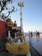 Asisbiz Myanmar Mon State Kyaiktiyo pagoda court yard shrines Dec 2009 05