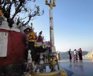 Asisbiz Myanmar Mon State Kyaiktiyo pagoda court yard shrines Dec 2009 06