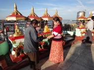 Asisbiz Myanmar Mon State Kyaiktiyo pagoda main patio Dec 2009 03