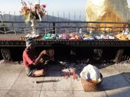 Asisbiz Myanmar Mon State Kyaiktiyo pagoda main patio wax removal Dec 2009 01