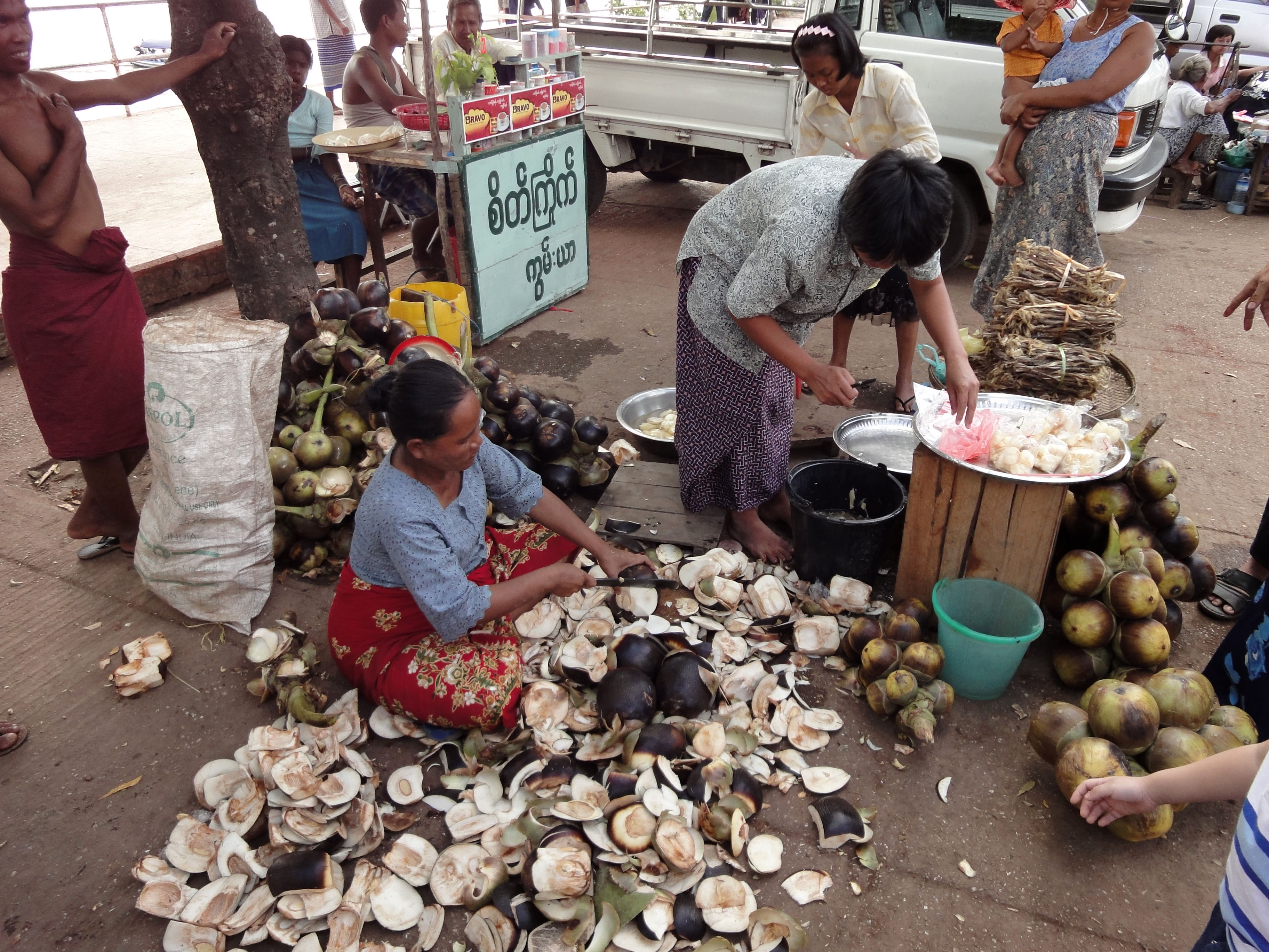 Thanlyin dryied fish markets Dec 2009 02