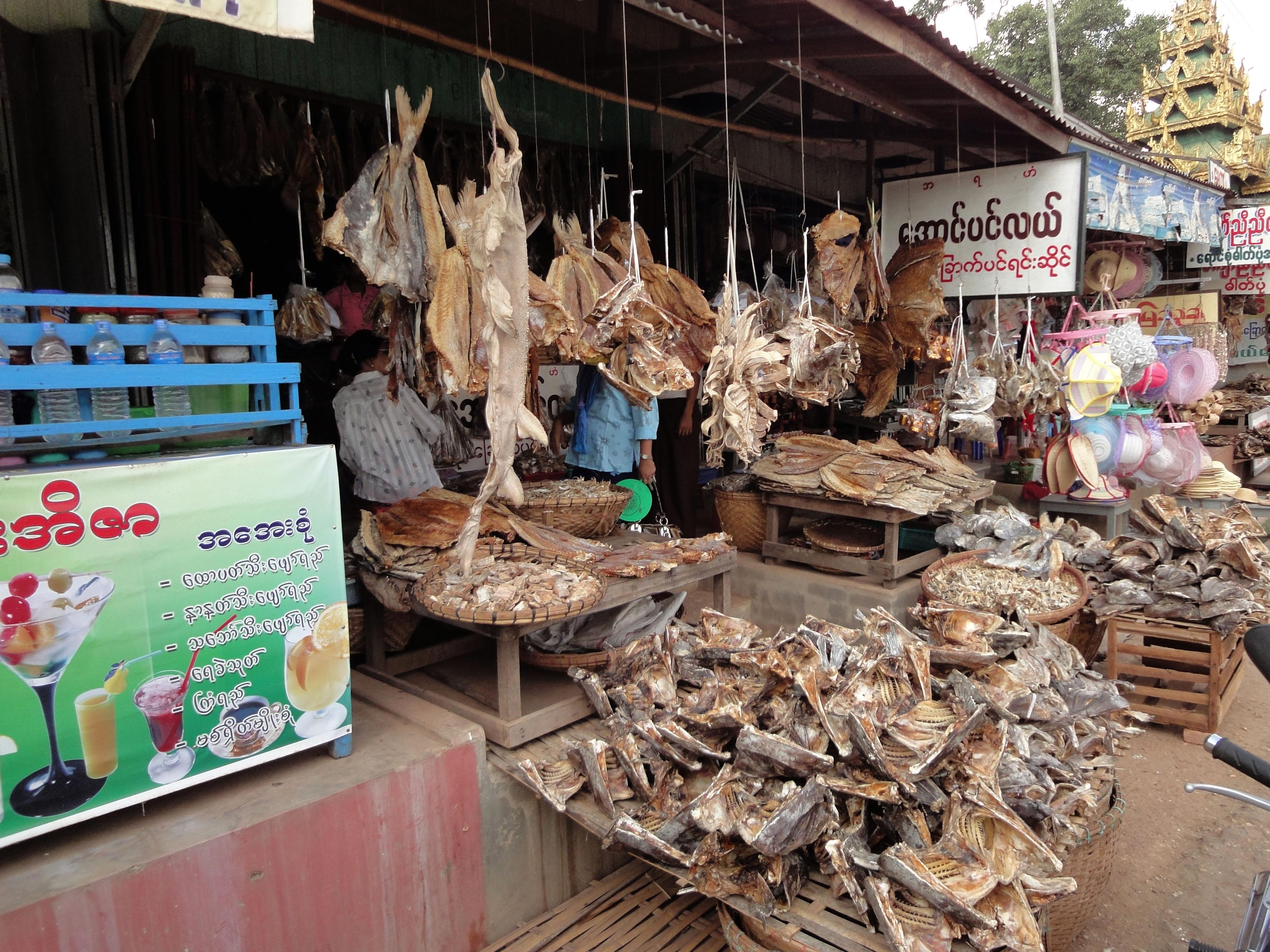 Thanlyin dryied fish markets Dec 2009 03