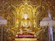 Asisbiz Thanlyin Kyauktan Ye Le Pagoda main Buddha Dec 2000 03