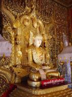 Asisbiz Thanlyin Kyauktan Ye Le Pagoda main Buddha Dec 2000 05