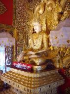 Asisbiz Thanlyin Kyauktan Ye Le Pagoda main Buddha Dec 2000 06