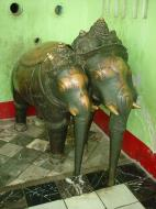 Asisbiz Maha Muni Shrine Three headed elephant Dec 2000 02