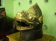 Asisbiz Maha Muni Shrine bronze lion head Dec 2000 01