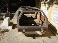 Asisbiz Mandalay Meiktila road WWII Jap tank Dec 2000 01
