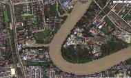 Asisbiz 1 Satellite image Meilamu Pagoda Ngamoeyeik creek Yangon Myanmar 01