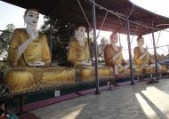 Asisbiz Meilamu Pagoda assorted Buddha statues Yangon Myanmar 06