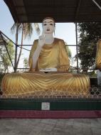 Asisbiz Meilamu Pagoda assorted Buddha statues Yangon Myanmar 07