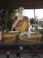 Asisbiz Meilamu Pagoda assorted Buddha statues Yangon Myanmar 09