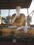 Asisbiz Meilamu Pagoda assorted Buddha statues Yangon Myanmar 10