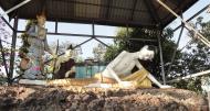 Asisbiz Meilamu Pagoda assorted Buddha statues Yangon Myanmar 12